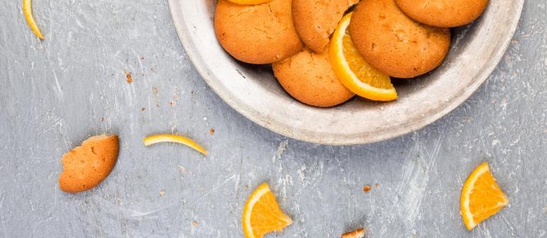 Biscoitos Fofos de Laranja